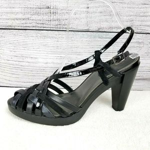 Cole Haan Sandals Strappy High Heel Pumps Black 10